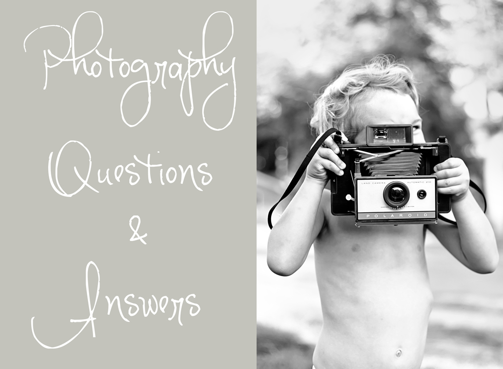 Photography Q& A Pic